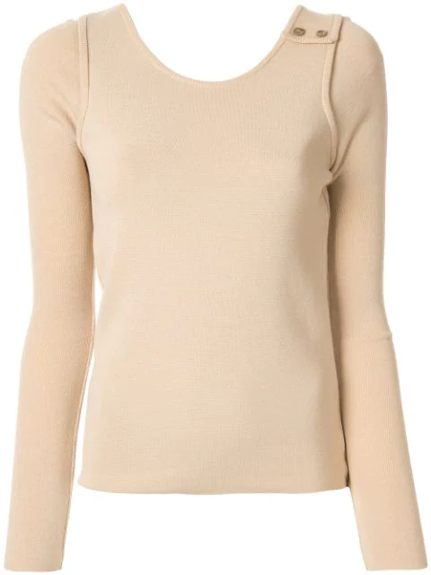 Muller Of Yoshiokubo Fine Knit Sweater In Neutrals