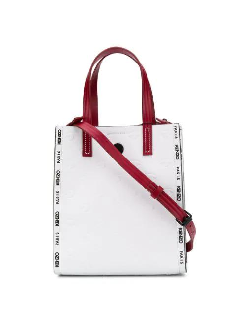 Kenzo Small Blink Multi-eye Tote Bag In 01 White