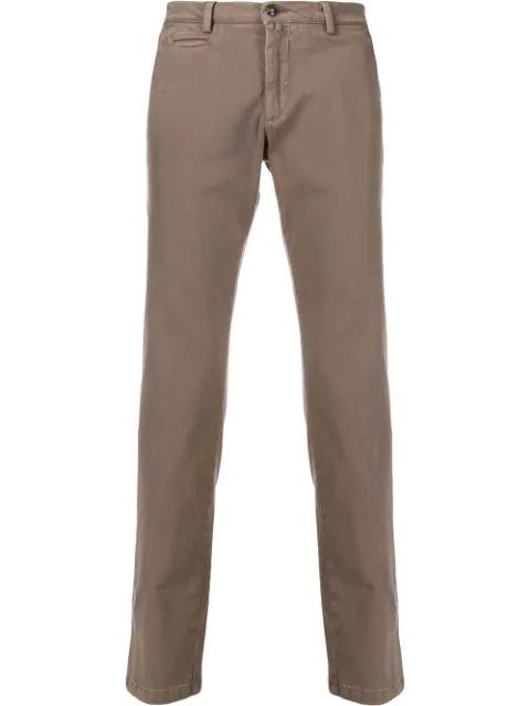 Briglia 1949 Faded Trousers In Dove Gray In Neutrals