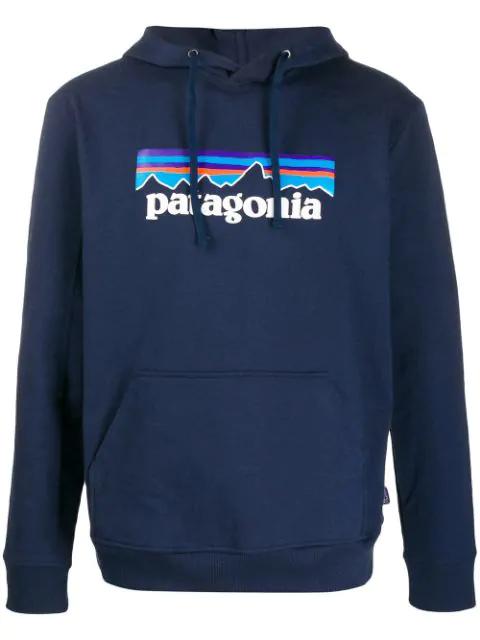 Patagonia P-6 Logo Uprisal Hoody In Blue
