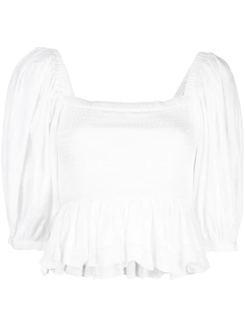 Cynthia Rowley Gesmoktes 'lily' Top In White