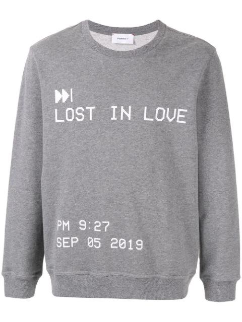Ports V Lost In Love Sweatshirt In Grey