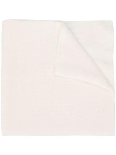 Plein Sport Logo Scarf In White