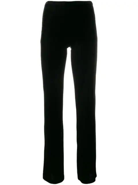 Blanca Velvet Flared Trousers In Black