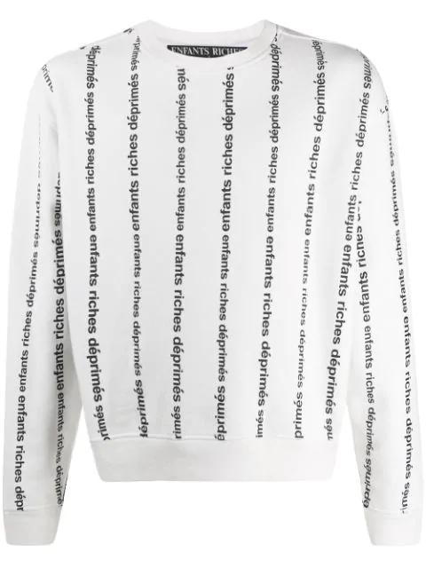 Enfants Riches Deprimes Enfants Riches D Prim S Men's Fw19040005 White Cotton Sweatshirt