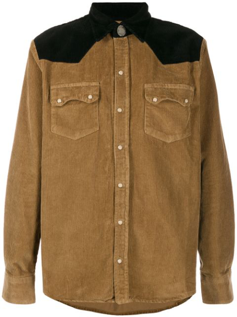 Family First Western-style Corduroy Shirt In Brown