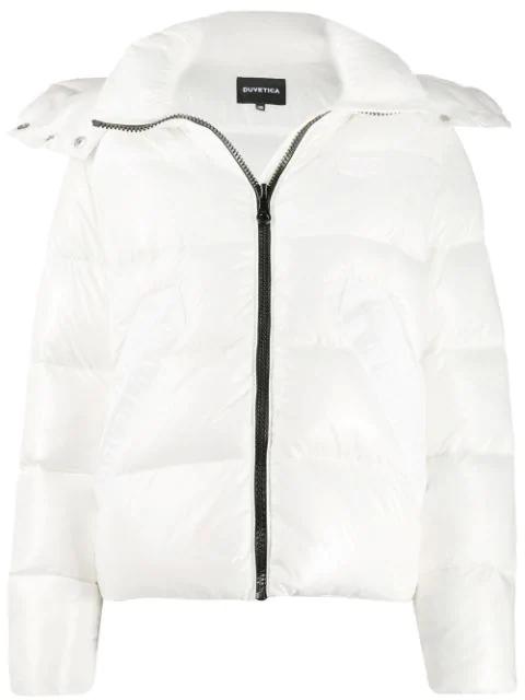 Duvetica Hooded Padded Jacket In White