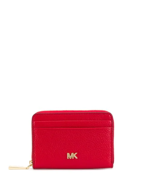 Michael Michael Kors Branded Wallet In Red