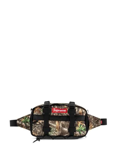 Supreme Camouflage Belt Bag In Black