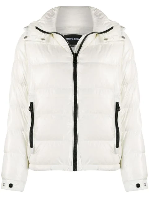 Duvetica Hooded Puffer Jacket In White