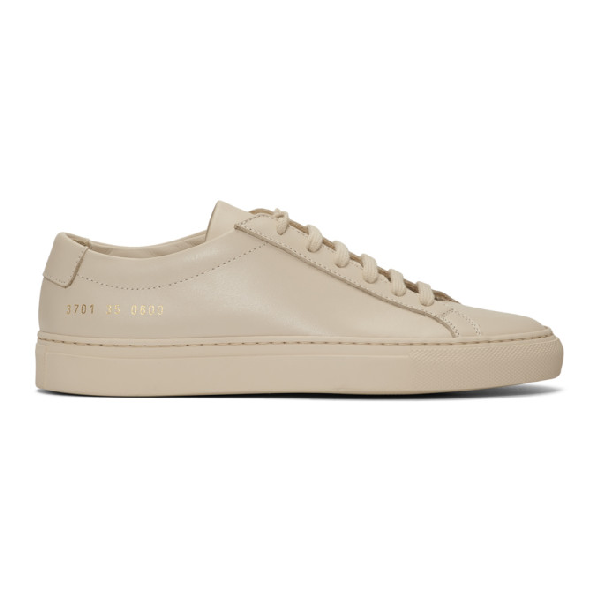 Common Projects Woman By  Beige Original Achilles Low Sneakers