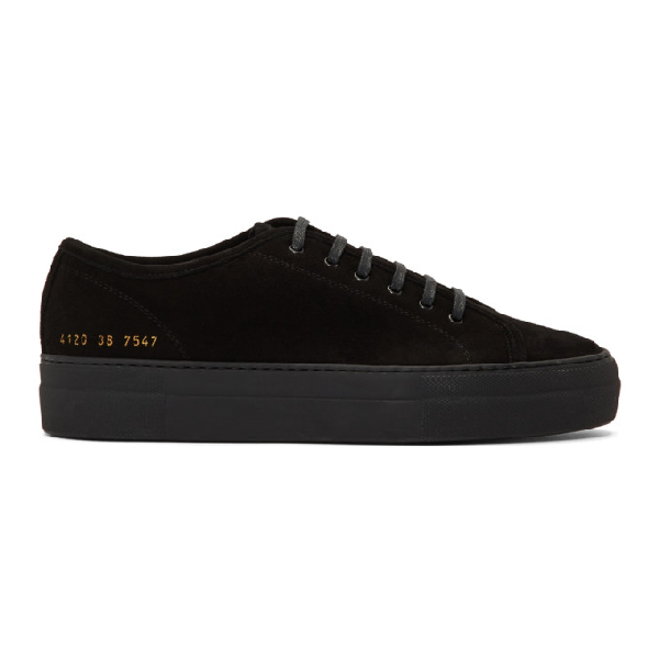 Common Projects Woman By  Black Shearling Tournament Low Sneakers