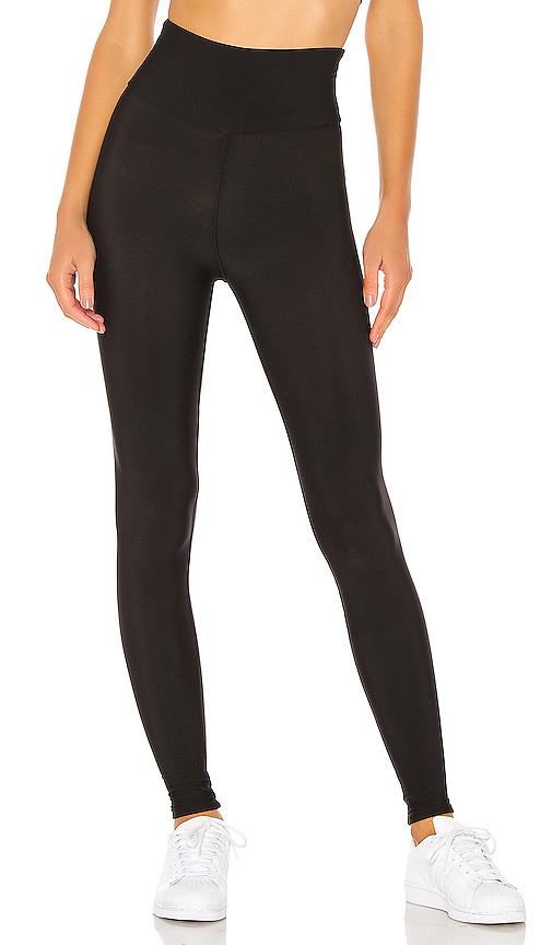 Plush Fleece Lined High Waisted Matte Legging In Black
