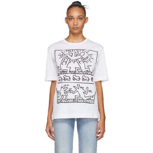 Etudes Studio Etudes White Keith Haring Edition Unity T-shirt