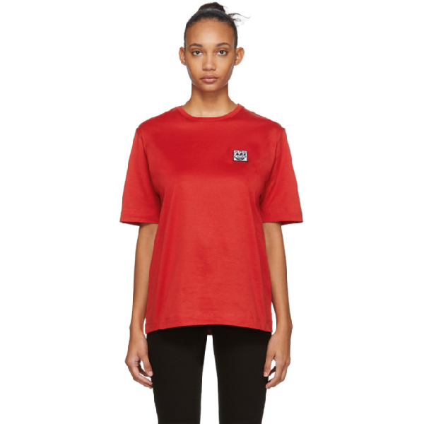 Etudes Studio Etudes Red Keith Haring Edition Unity Patch T-shirt