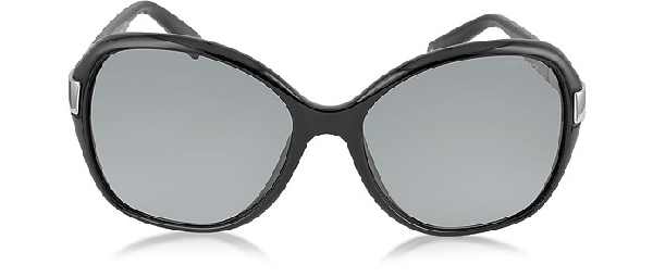 7b44737d6480 Jimmy Choo Alana S Round Framed Sunglasses W Crystal Inserts In Black Shaded