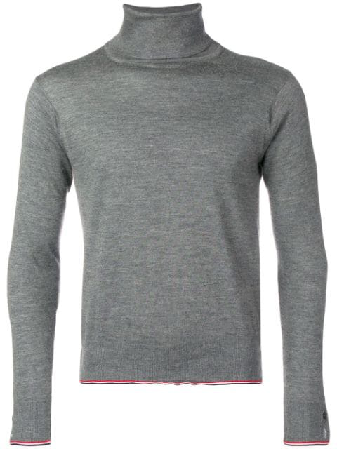 Thom Browne Classic Cashmere Turtleneck Pullover In Grey
