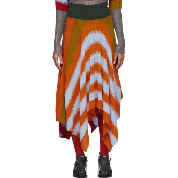 Kiko Kostadinov Multicolor Pistolera Skirt In Bright Poly