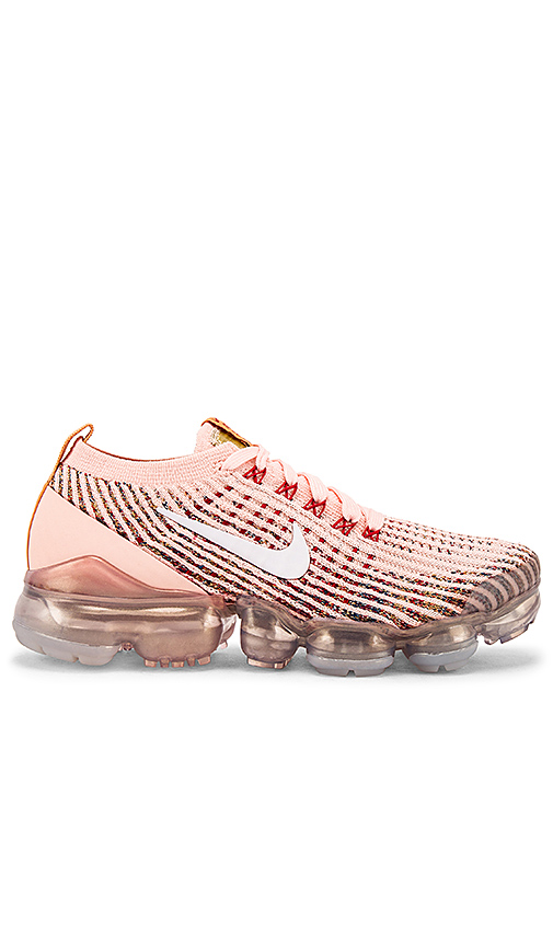 Nike Air Vapormax Flyknit 3 Sunset Tint (W) In Sunset Tint  White  Blue Force & Gym Red