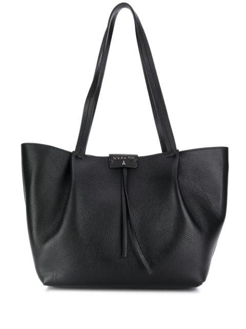 Patrizia Pepe Pepe City Black Leather Medium Tote Bag