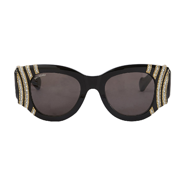 Balenciaga Paris Cat Jewelry Sunglasses In Black 005