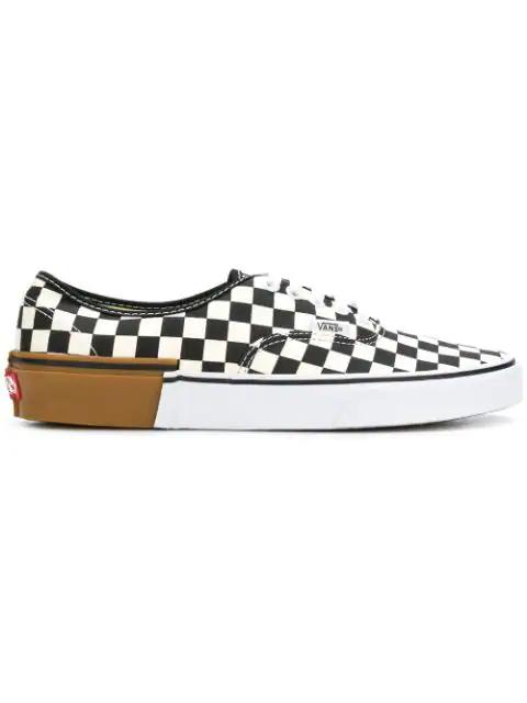 Vans Gum Block Authentic Check Sneakers In Multicolor