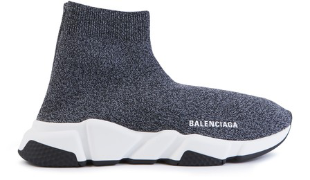 Balenciaga Speed Stretch-Knit High-Top Sneakers In 1020