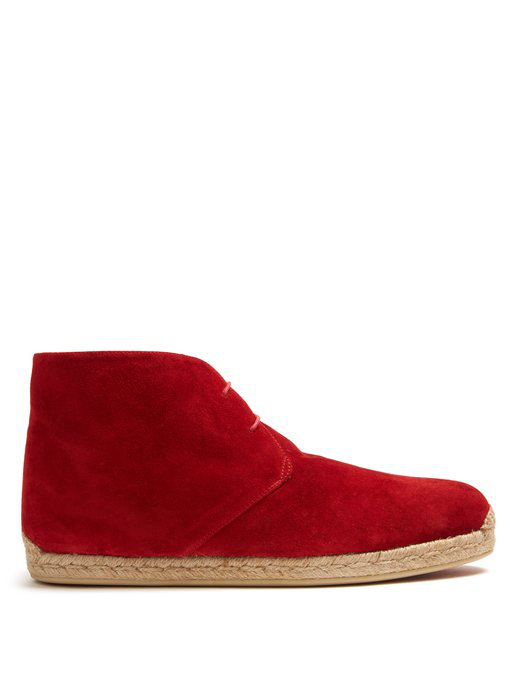 55abebf6ee8a Christian Louboutin - Neocadaques Lace Up Suede Espadrilles - Mens ...