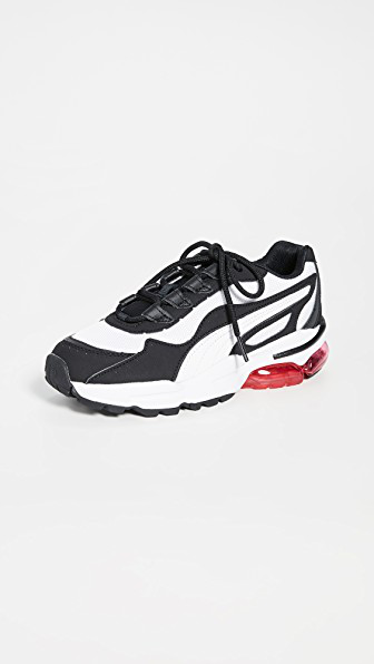 Puma White And Black Cell Stellar Sneakers In  White/ Black
