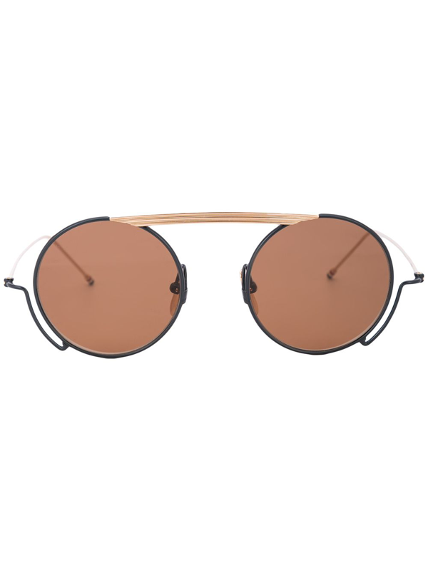 Thom Browne Round Frame Sunglasses In Gold