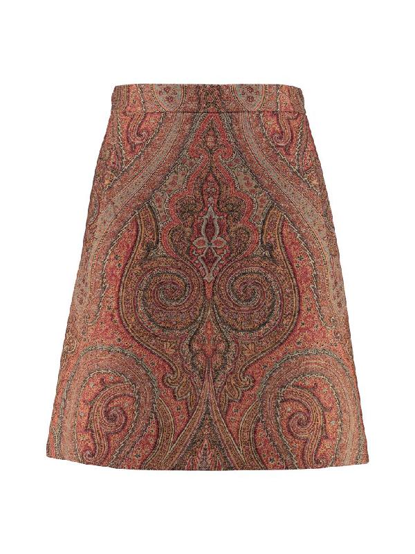 Etro Flared Skirt In Multicolor