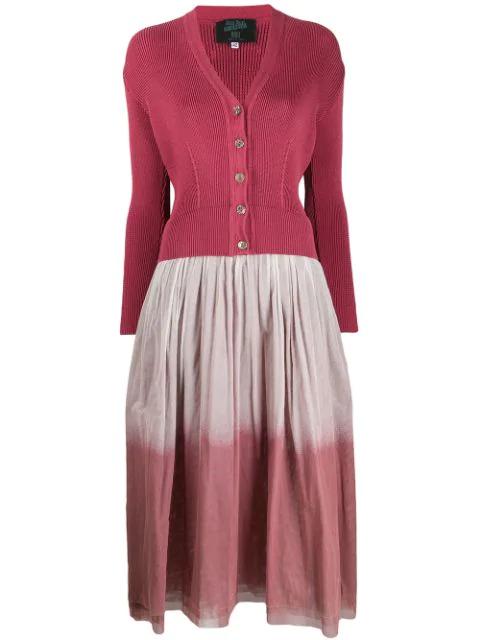 Jean Paul Gaultier 1991 Layered Gradient Dress In Pink
