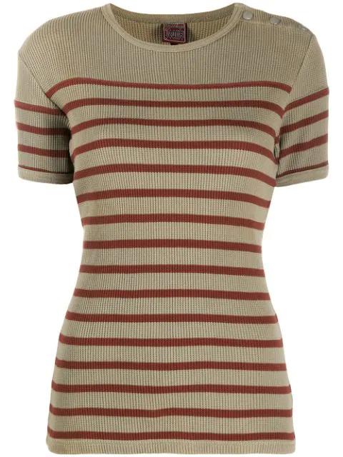 Jean Paul Gaultier 1990s Striped T-shirt In Brown