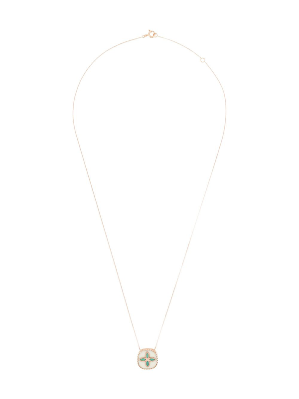 Pascale Monvoisin 9kt Rose Gold Bowie Turquoise Necklace