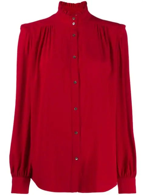 N°21 Ruffle Neck Shirt In Red