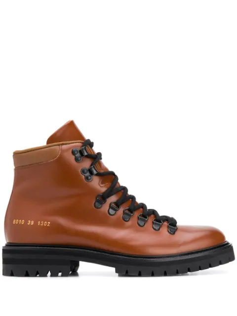 Common Projects Signature Hiking Boots In 1302 Tan
