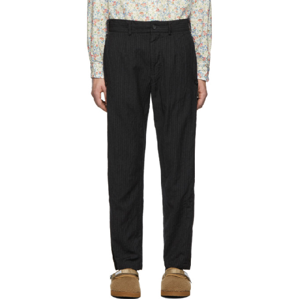 Engineered Garments Grey Wool Doug Trousers In So001charcl