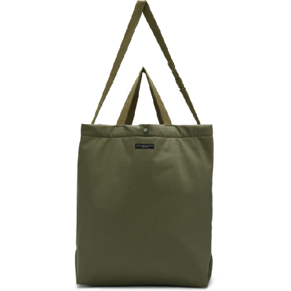 Engineered Garments Green Carry All Tote In Ct068 Olive