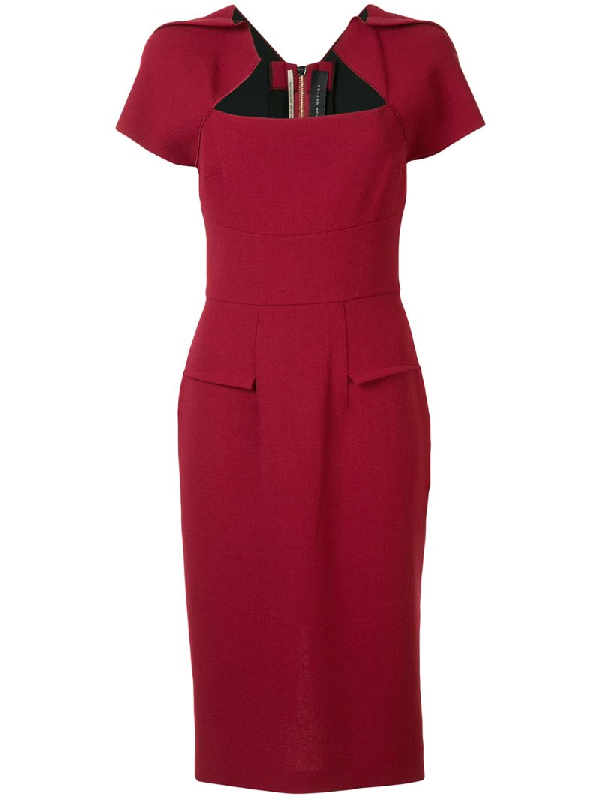 Roland Mouret Exclusive To Mytheresa - Myrtha Wool-crêpe Dress In Red