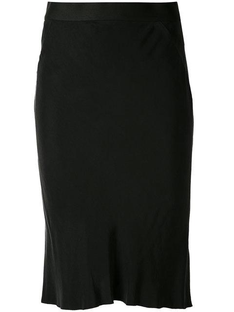 Ann Demeulemeester Knee-Length Panel Skirt In Black