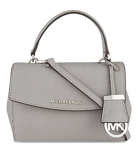 8d09761d4930 Michael Michael Kors Ava Extra-Small Saffiano Leather Cross-Body Bag In Pearl  Grey