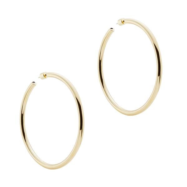 """Jennifer Fisher 2.5"""" Goop Hoops Earring In Yellow Gold"""