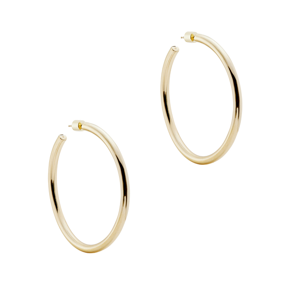 "Jennifer Fisher 2"" Goop Hoops Earring In Yellow Gold"