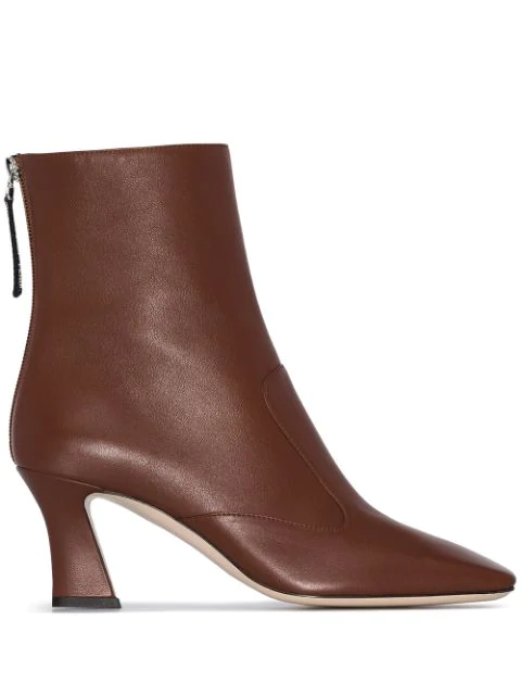 Fendi Ffreedom Leather Ankle Boots In Brown