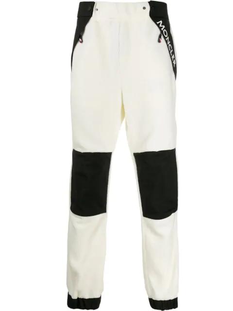 Moncler Grenoble Black & White Men's Black And White Track Pants