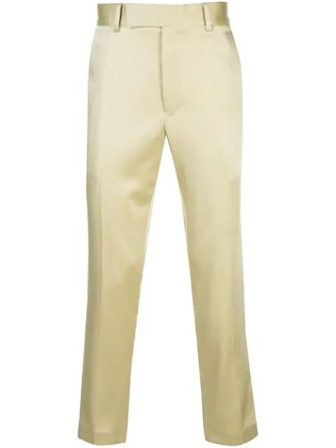 Haider Ackermann Yellow Men's Tailored Fit Trousers
