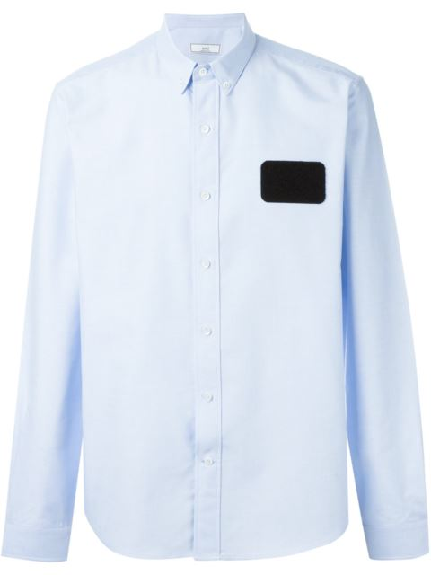 Ami Alexandre Mattiussi Name Tag Patch Shirt