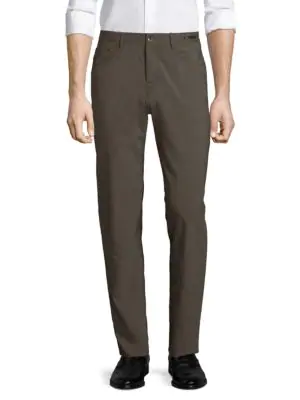 Pt01 Dressy Five-pocket Techno Wool Pants In Brown