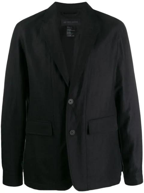 Ann Demeulemeester Plain Tailored Blazer In Black