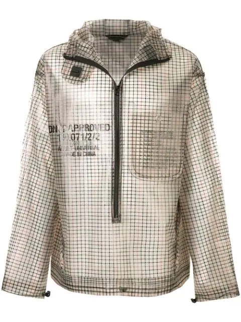 Sankuanz Check Pattern Jacket In Beige Check